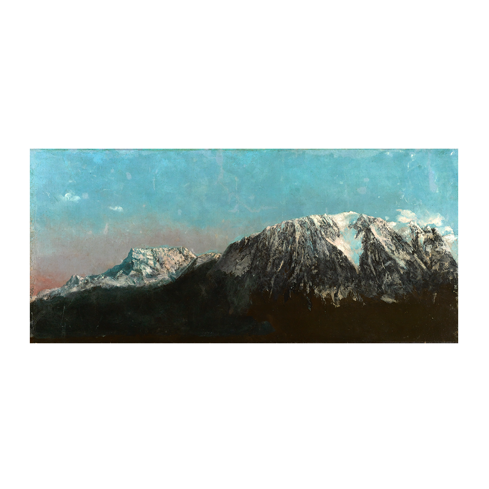 Gustave Courbet, <em>Panorama des Alpes</em>, c. 1876. Óleo sobre lienzo © Musées d'art et d'histoire, Ginebra. Fotografía: Bettina Jacot-Descombes - Azul. El color del Modernismo - CaixaForum Palma